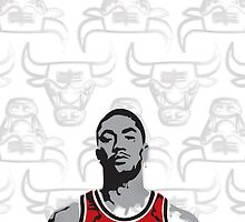 Derrick Rose by Mike Maher