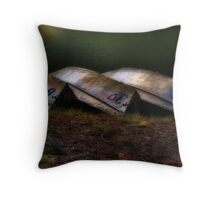 Boats of Three Throw Pillow