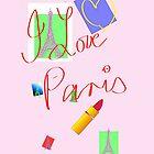 I Love Paris iPhone Case by Mike van der Hoorn
