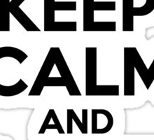 Keep Calm and Love FIGHT Sticker