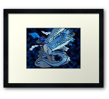 Articuno Through the Frost Framed Print