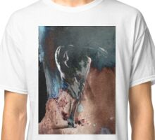 Fount ii (b) - Conté Drawing with mood texture Classic T-Shirt