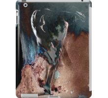 Fount ii (b) - Conté Drawing with mood texture iPad Case/Skin