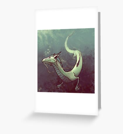 Haku. Spirited Away Greeting Card