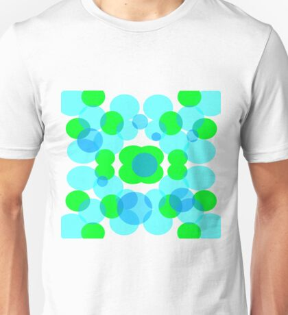 Blue and Green Bubbles Unisex T-Shirt