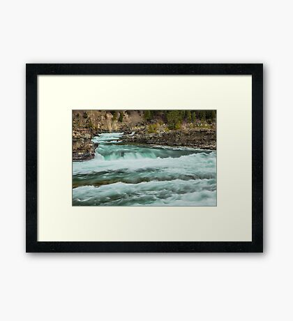 Kootenai Falls Framed Print