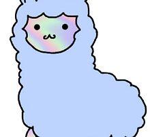 Pastel Fluffy Alpaca by emmarly