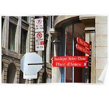 Montreal Street Scene Poster