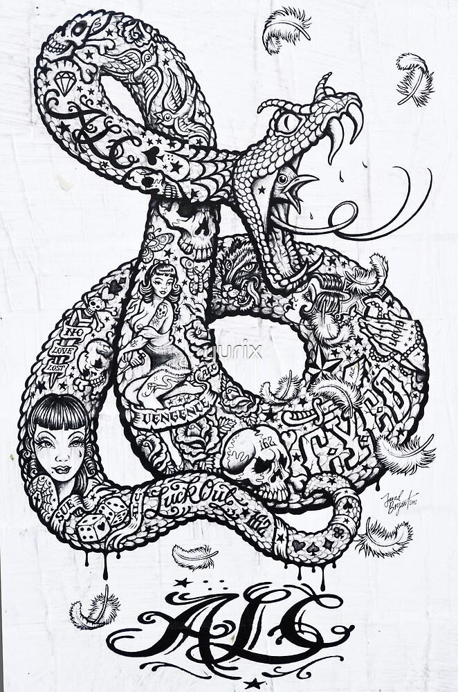 Tattoo style Graffiti by yurix