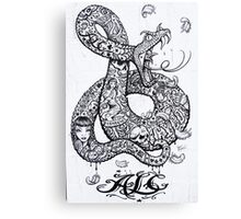 Tattoo style Graffiti Canvas Print