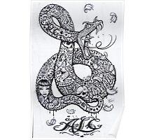 Tattoo style Graffiti Poster