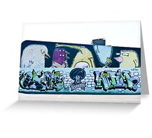 Abstract Graffiti Wall Greeting Card