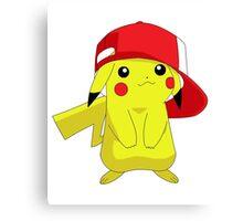 Pokemon Pikachu in Hat Cool Pika Canvas Print