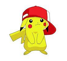 Pokemon Pikachu in Hat Cool Pika Photographic Print