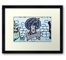 Abstract Graffiti Sheep on the textured wall Framed Print