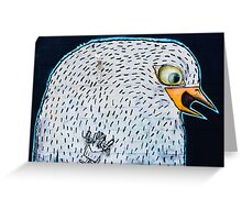 Abstract Graffiti Bird on the textured wall Greeting Card