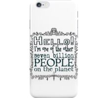 Other People Dark on Light iPhone Case/Skin