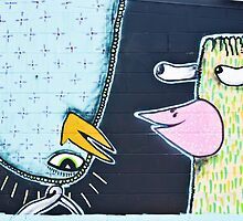 Two weird Graffiti Birds by yurix