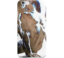 Fount III - Conté Drawing with mood texture iPhone Case/Skin