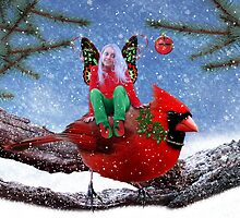 The Cardinal & The Christmas Fairy by Elizabeth Burton