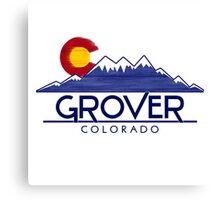 Grover Colorado wood mountains Canvas Print