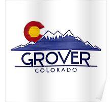 Grover Colorado wood mountains Poster