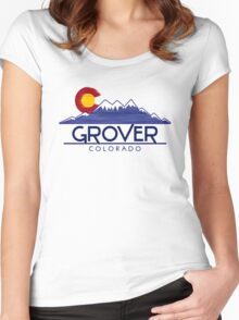 Grover Colorado wood mountains Women's Fitted Scoop T-Shirt