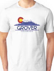 Grover Colorado wood mountains Unisex T-Shirt