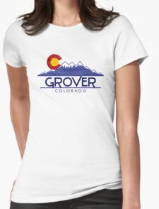 Grover Colorado wood mountains Womens Fitted T-Shirt