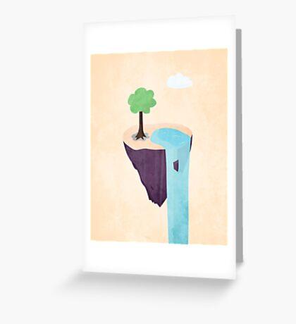 Floating Island Greeting Card
