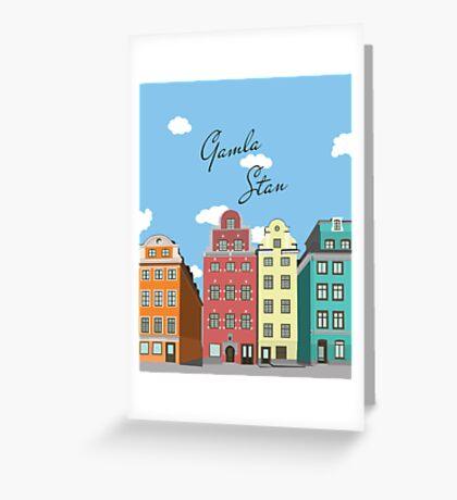 Gamla Stan Stockholm Greeting Card