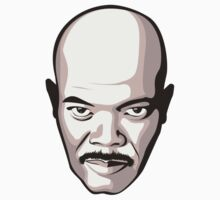 Samuel L. Jackson - Moustache T-Shirt Kids Clothes