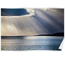 View Across Sea of Caldey Island Poster
