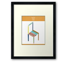 Periodic Chair of Elements Framed Print