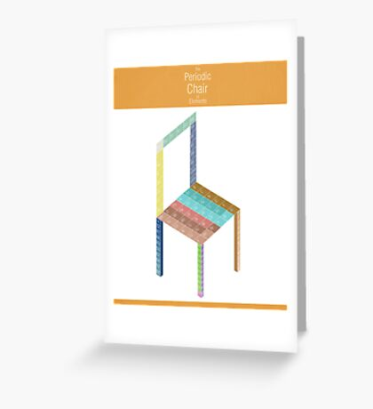 Periodic Chair of Elements Greeting Card