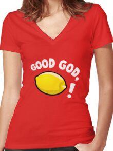 Good God, Lemon! Women's Fitted V-Neck T-Shirt