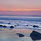 Saundersfoot Rocky Morning Beach by Simon West