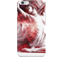 Fount iv, conté drawing - textured  iPhone Case/Skin