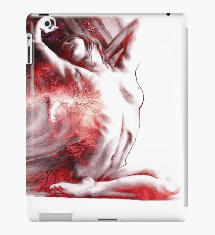 Fount iv, conté drawing - textured  iPad Case/Skin