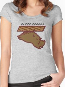 Black Quarry Boarcupines Women's Fitted Scoop T-Shirt