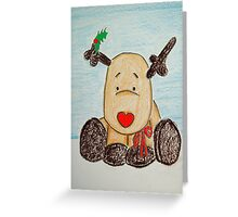 Holly BowLightly Greeting Card