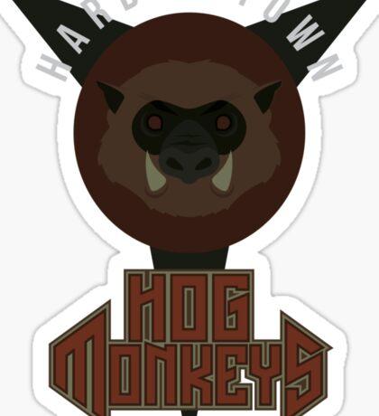 Harbor Town Hog Monkeys Sticker
