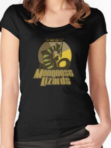 Mo Ce Mongoose Lizards Women's Fitted Scoop T-Shirt