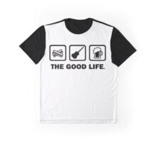 Bacon Guitar Beer The Good Life Graphic T-Shirt