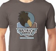 Orchid Gardens Ostrich Horses Unisex T-Shirt
