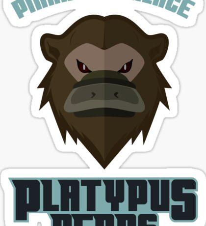 Pinnacle Palace Platypus Bears Sticker