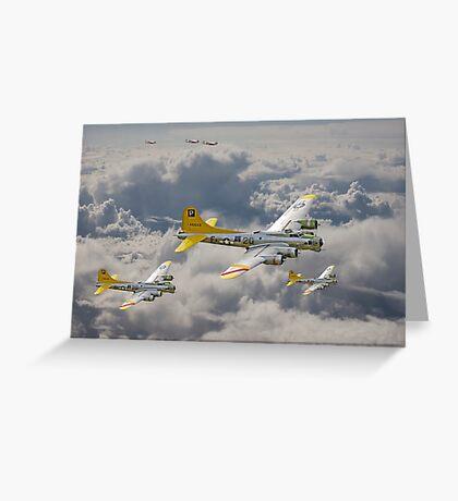 B17 - 487th Bomb Group Greeting Card