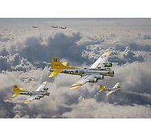 B17 - 487th Bomb Group Photographic Print