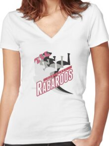 Red Sands Rabaroos Women's Fitted V-Neck T-Shirt