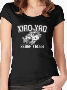 Xiao Yao Zebra Frogs Women's Fitted Scoop T-Shirt